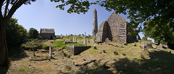 Panoramabild von Ardmore im Südwesten Irlands