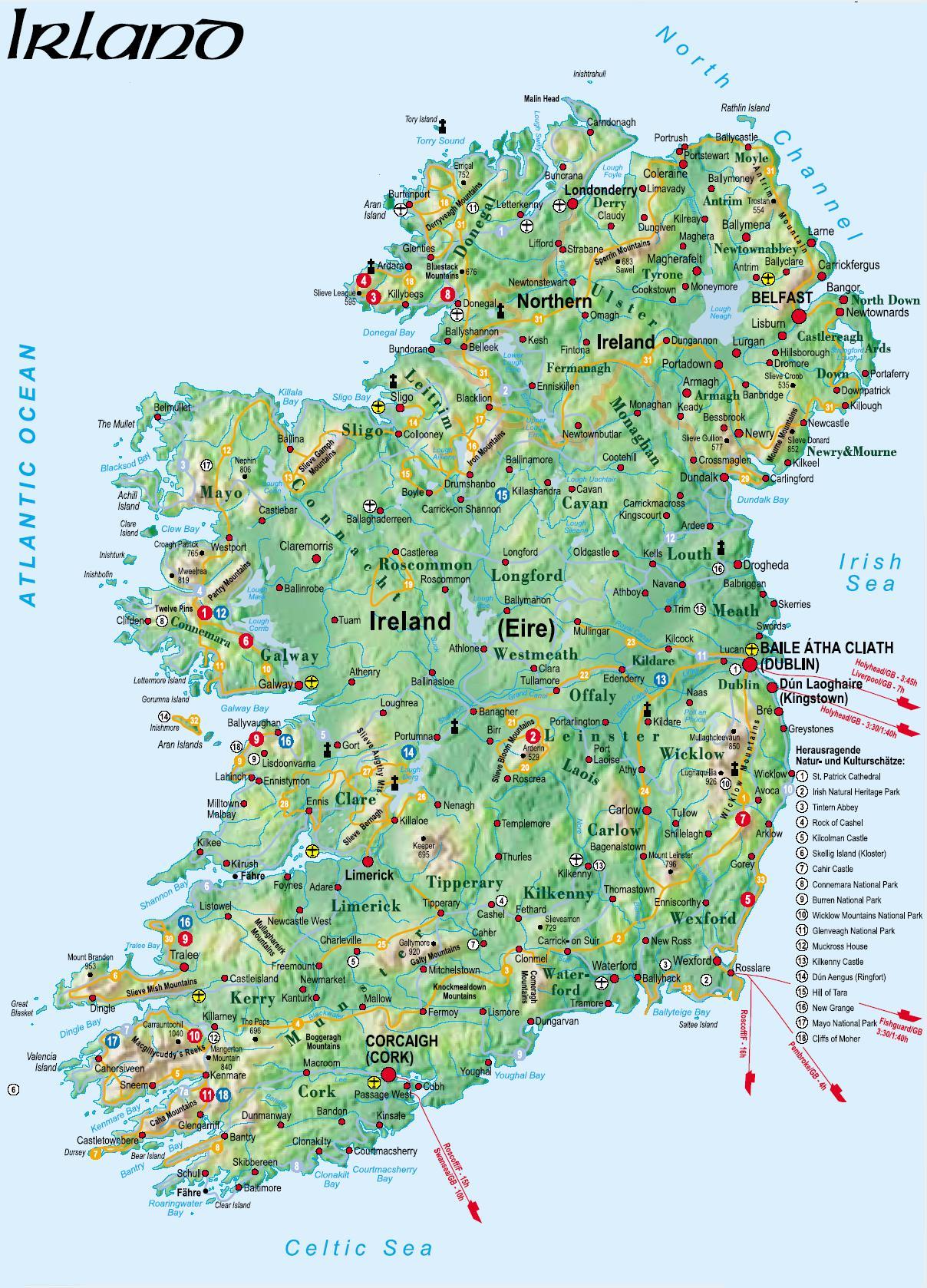 burgen irland karte .jens oerter.de